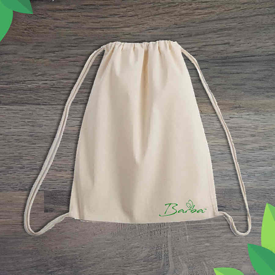 Barba™ Recycled Cotton Drawstring Bag