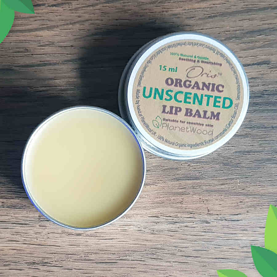 Organic Unscented Lip Balm 15ml
