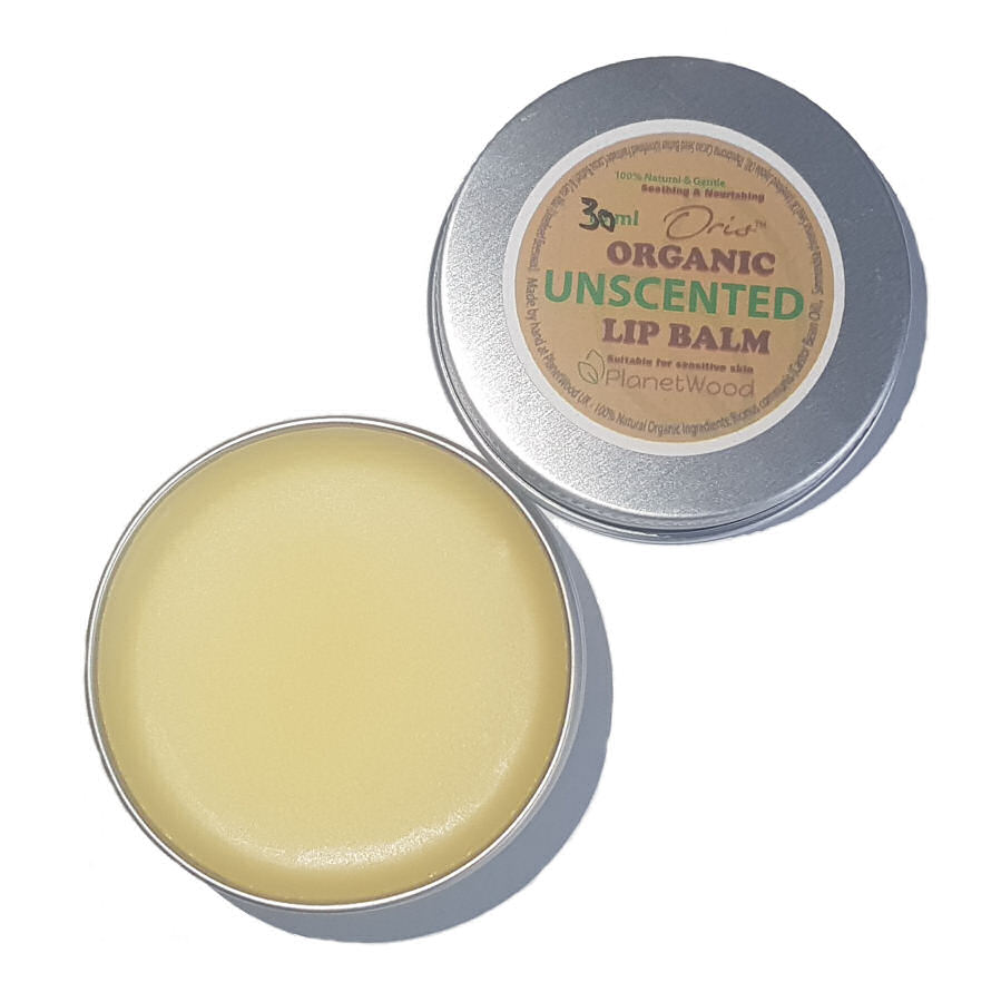 Organic Unscented Lip Balm 30ml