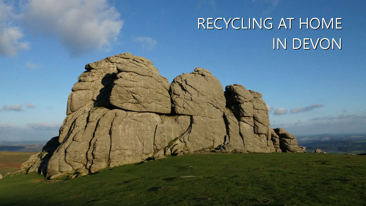 Recycling at home in Devon