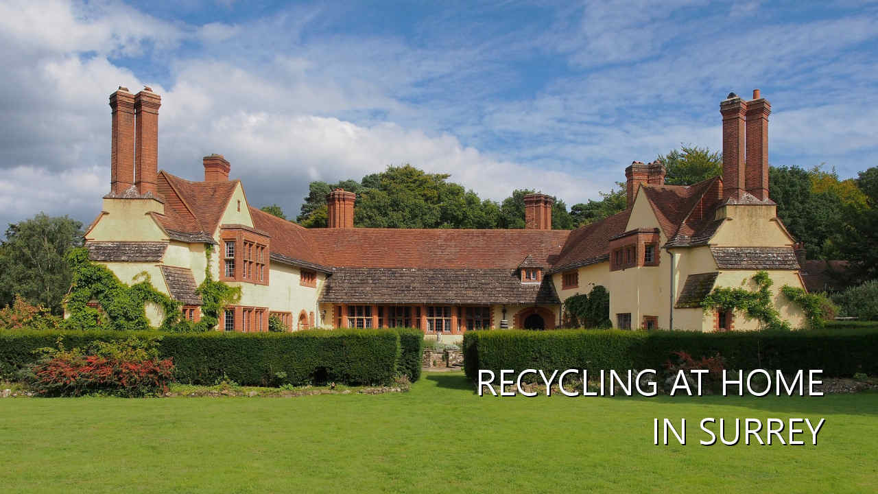 Recycling at home in Surrey
